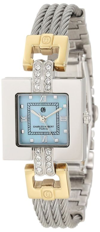 チャールズヒューバート Charles-Hubert, Paris 女性用 腕時計 レディース ウォッチ パール 6807-T 送料無料 【並行輸入品】
