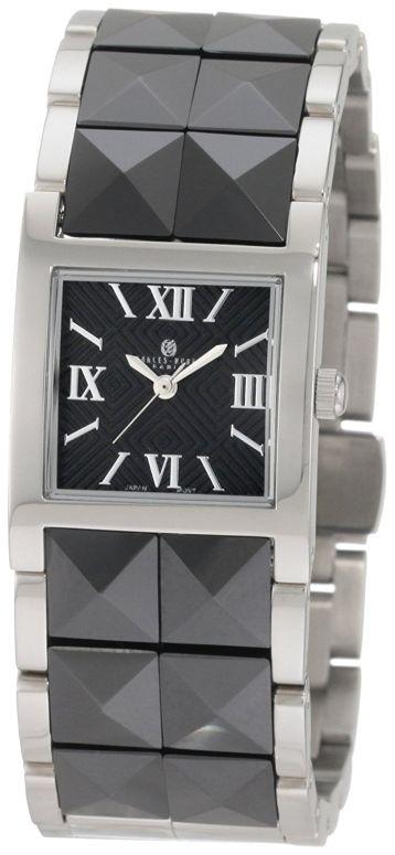 チャールズヒューバート Charles-Hubert, Paris 女性用 腕時計 レディース ウォッチ ブラック 6787-B 送料無料 【並行輸入品】