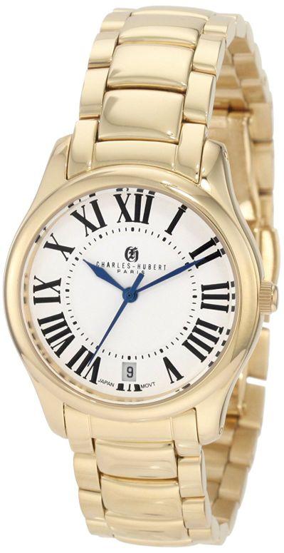 チャールズヒューバート Charles-Hubert, Paris 女性用 腕時計 レディース ウォッチ ホワイト 6897-G 送料無料 【並行輸入品】