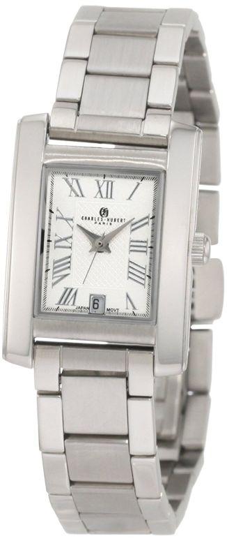 チャールズヒューバート Charles-Hubert, Paris 女性用 腕時計 レディース ウォッチ ホワイト 6880 送料無料 【並行輸入品】