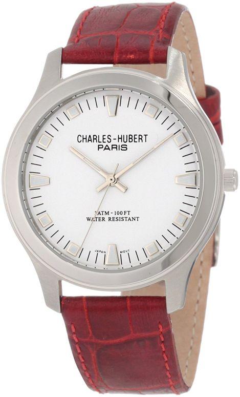 チャールズヒューバート Charles-Hubert, Paris 女性用 腕時計 レディース ウォッチ ホワイト 3706 送料無料 【並行輸入品】
