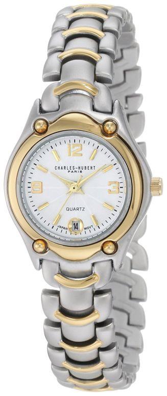 チャールズヒューバート Charles-Hubert, Paris 女性用 腕時計 レディース ウォッチ ホワイト 6630 送料無料 【並行輸入品】