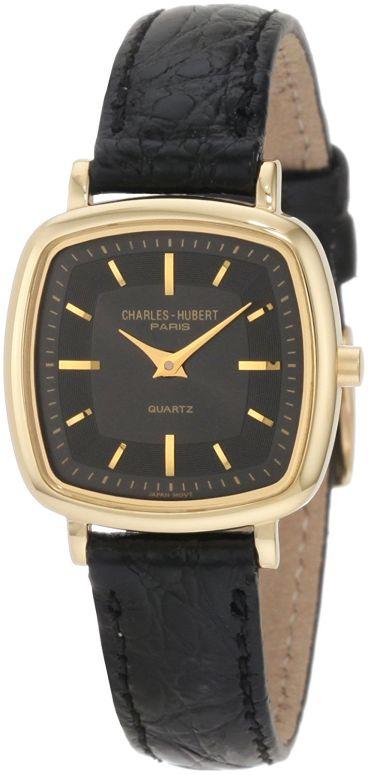 チャールズヒューバート Charles-Hubert, Paris 女性用 腕時計 レディース ウォッチ ブラック 6681-GB 送料無料 【並行輸入品】