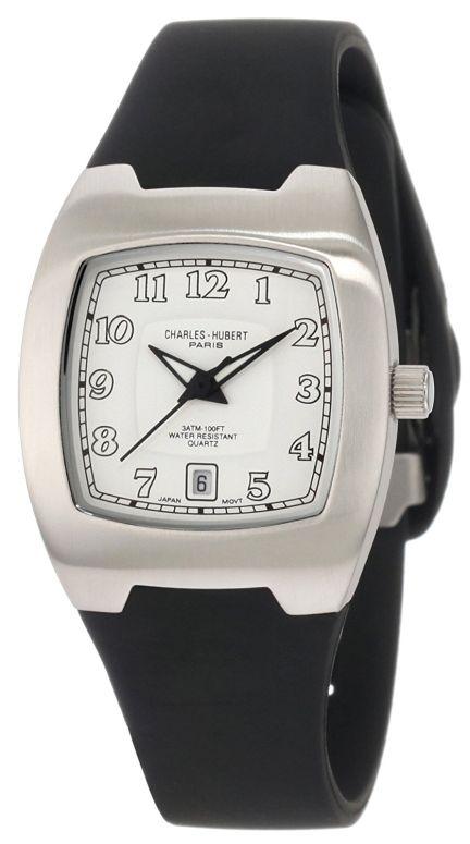 チャールズヒューバート Charles-Hubert, Paris 女性用 腕時計 レディース ウォッチ ホワイト 6693-W 送料無料 【並行輸入品】