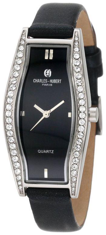 チャールズヒューバート Charles-Hubert, Paris 女性用 腕時計 レディース ウォッチ ブラック 6752 送料無料 【並行輸入品】