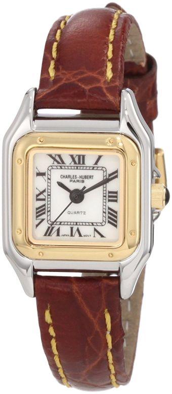 チャールズヒューバート Charles-Hubert, Paris 女性用 腕時計 レディース ウォッチ ホワイト 6437 送料無料 【並行輸入品】