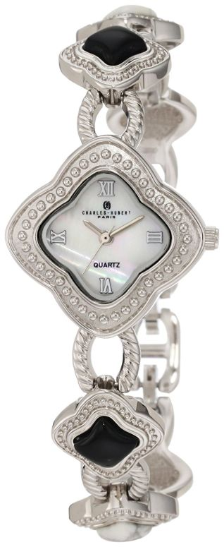 チャールズヒューバート Charles-Hubert, Paris 女性用 腕時計 レディース ウォッチ ホワイト 6771-BW 送料無料 【並行輸入品】