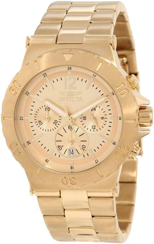 インビクタ Invicta インヴィクタ 男性用 腕時計 メンズ ウォッチ クロノグラフ ゴールド 1266 送料無料 【並行輸入品】