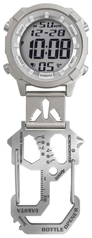 ダコタ Dakota 時計 カラビナ ウォッチ ミニ クリップ silver グレー 30203 送料無料 【並行輸入品】