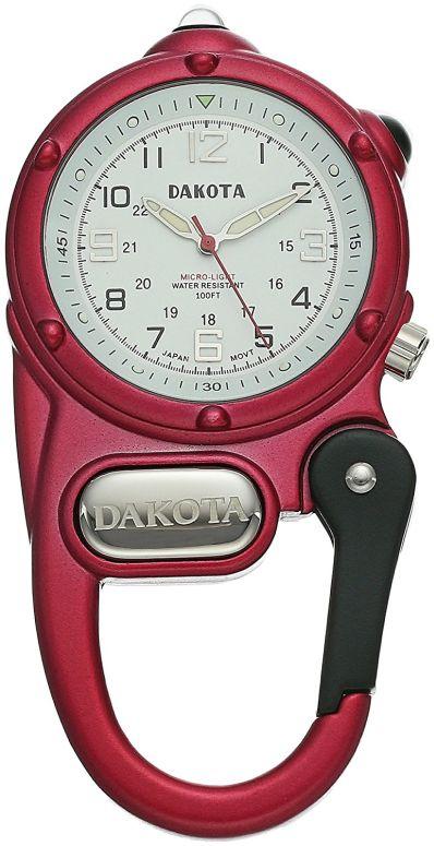 ダコタ Dakota 時計 カラビナ ウォッチ ミニ クリップ ホワイト 38275 送料無料 【並行輸入品】