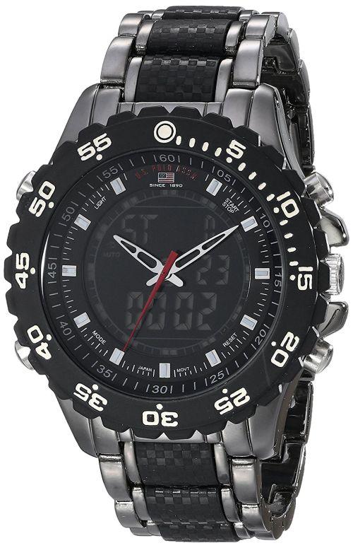 ユーエス ポロ アッスン U.S. Polo Assn. 男性用 腕時計 メンズ ウォッチ ブラック US8170 送料無料 【並行輸入品】