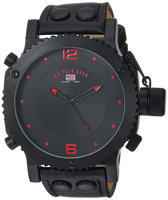 ユーエス ポロ アッスン U.S. Polo Assn. 男性用 腕時計 メンズ ウォッチ ブラック US4023 送料無料 【並行輸入品】