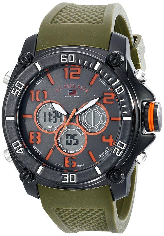 ユーエス ポロ アッスン U.S. Polo Assn. 男性用 腕時計 メンズ ウォッチ ブラック US9185 送料無料 【並行輸入品】