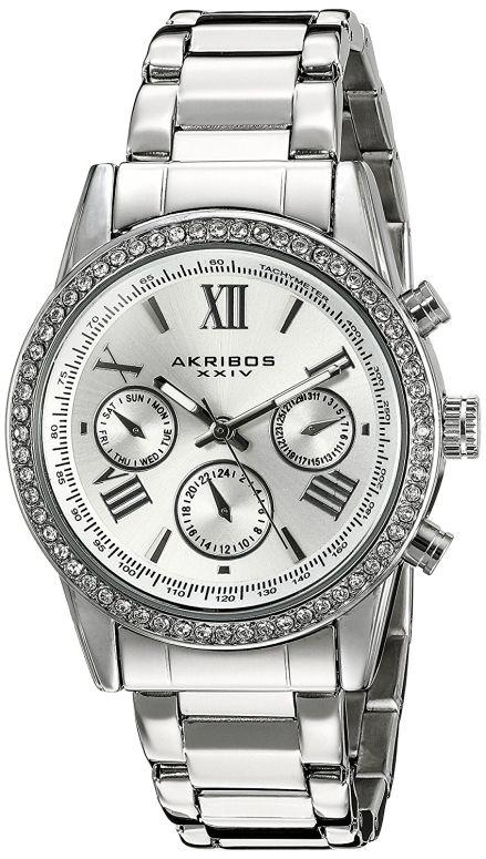 アクリボス Akribos XXIV 女性用 腕時計 レディース ウォッチ シルバー AK872SS 送料無料 【並行輸入品】