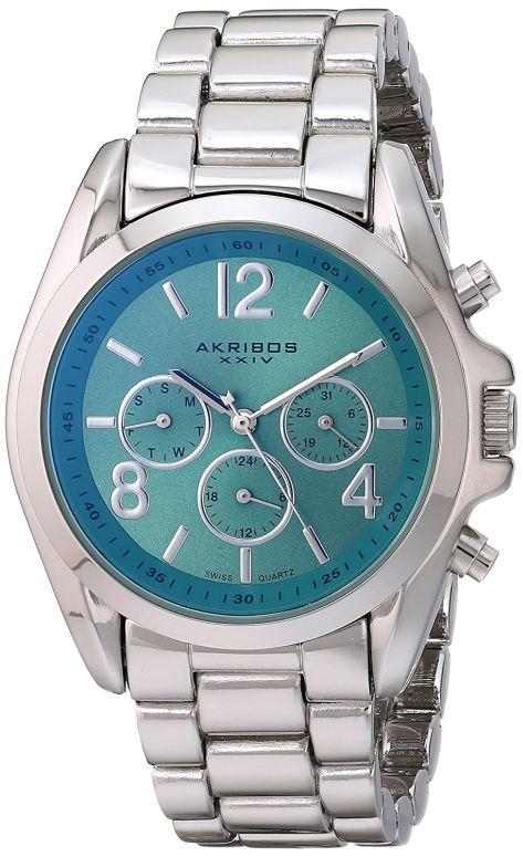 アクリボス Akribos XXIV 女性用 腕時計 レディース ウォッチ グリーン AK760SSTQ 送料無料 【並行輸入品】
