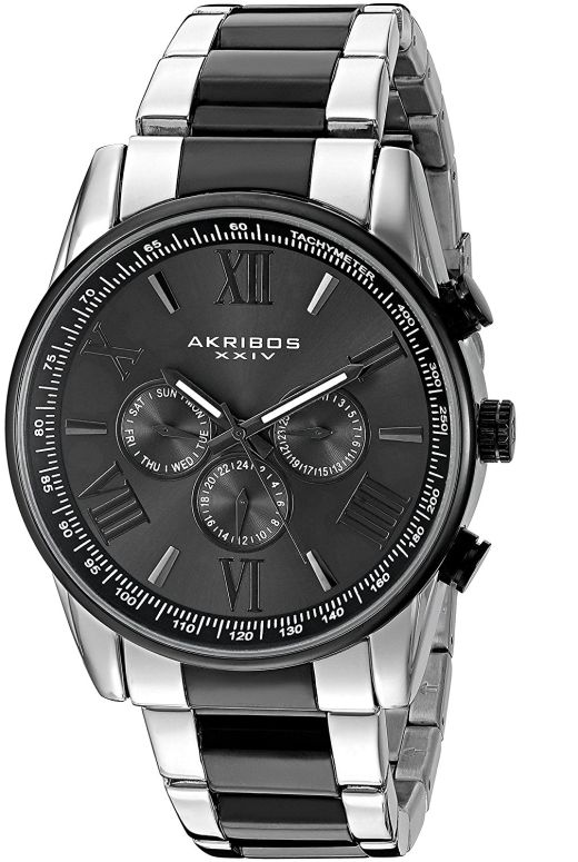 アクリボス Akribos XXIV 男性用 腕時計 メンズ ウォッチ ブラック AK736TTB 送料無料 【並行輸入品】