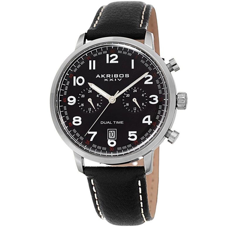アクリボス Akribos XXIV 男性用 腕時計 メンズ ウォッチ ブラック AK1023 送料無料 【並行輸入品】