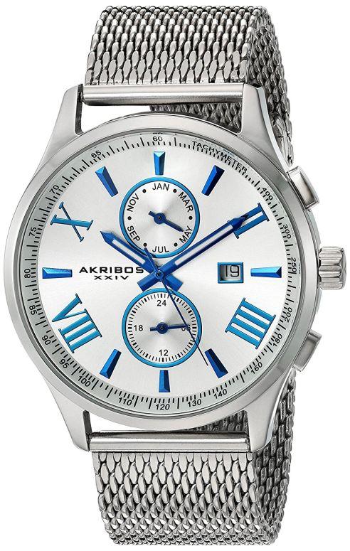 アクリボス Akribos XXIV 男性用 腕時計 メンズ ウォッチ シルバー AK905SS 送料無料 【並行輸入品】