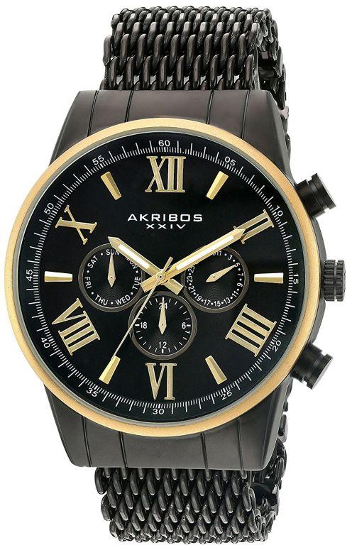 アクリボス Akribos XXIV 男性用 腕時計 メンズ ウォッチ ブラック AK919BKYG 送料無料 【並行輸入品】