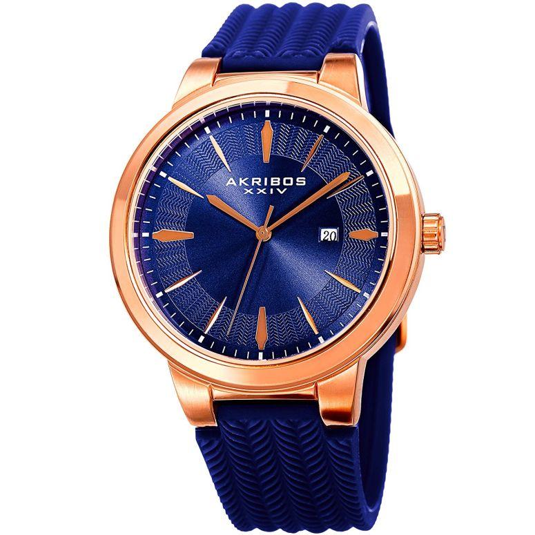 アクリボス Akribos XXIV 男性用 腕時計 メンズ ウォッチ ブルー AK1007RGBU 送料無料 【並行輸入品】
