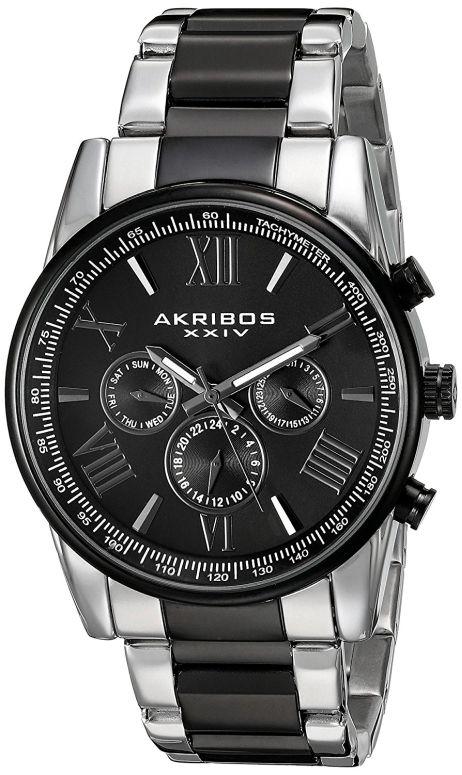 アクリボス Akribos XXIV 男性用 腕時計 メンズ ウォッチ ブラック AK904TTB 送料無料 【並行輸入品】
