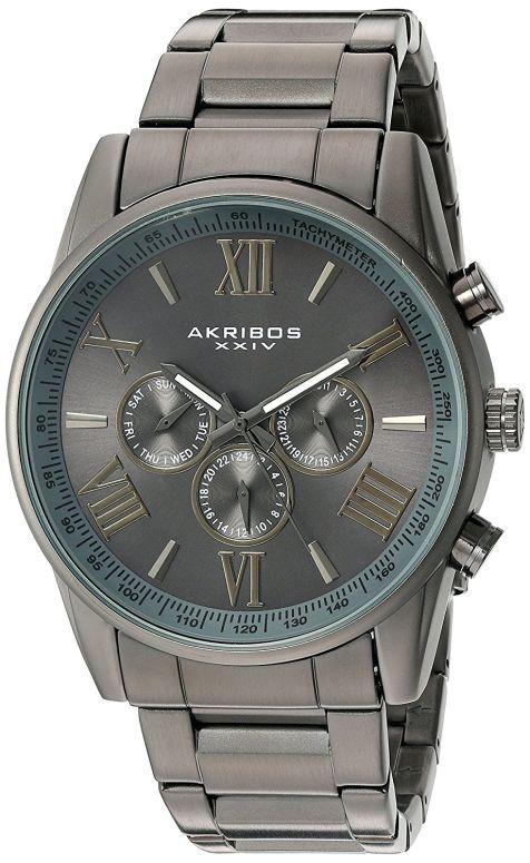 アクリボス Akribos XXIV 男性用 腕時計 メンズ ウォッチ ブラック AK736GN 送料無料 【並行輸入品】