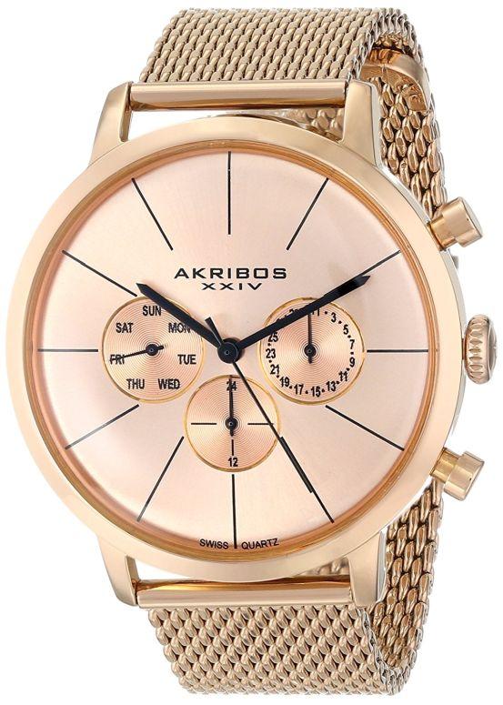 アクリボス Akribos XXIV 男性用 腕時計 メンズ ウォッチ ローズゴールド AK714RG 送料無料 【並行輸入品】