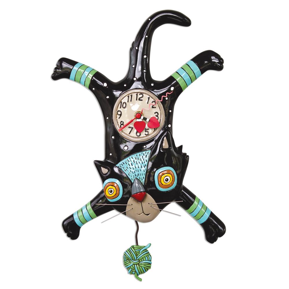 ネコ 猫 キャット アレン デザイン 振り子時計 Allen Designs Craft Attack Cat Pendulum Clock 掛け時計 P1852 ミシェルアレン ミシェル・アレン アレン・デザイン ALLEN DESIGNS 時計 送料無料 【並行輸入品】