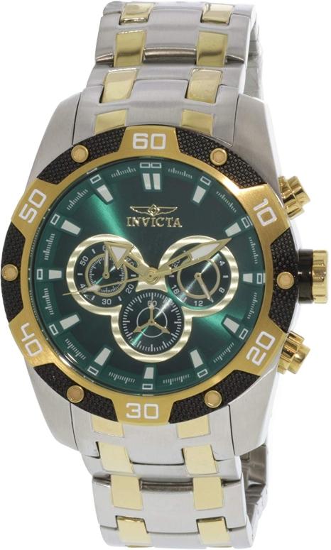 インビクタ Invicta インヴィクタ 男性用 腕時計 メンズ ウォッチ クロノグラフ グリーン 25844 送料無料 【並行輸入品】