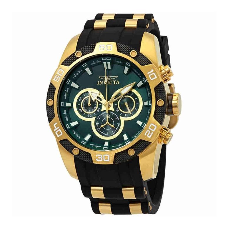 インビクタ Invicta インヴィクタ 男性用 腕時計 メンズ ウォッチ クロノグラフ グリーン 25837 送料無料 【並行輸入品】
