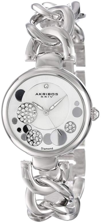 アクリボス Akribos XXIV 女性用 腕時計 レディース ウォッチ シルバー AK678SS 送料無料 【並行輸入品】