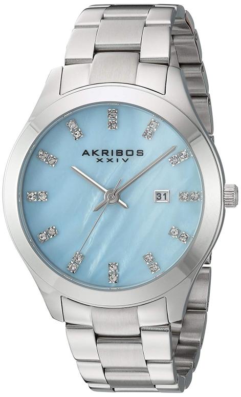 アクリボス Akribos XXIV 女性用 腕時計 レディース ウォッチ パール AK954SSBU 送料無料 【並行輸入品】