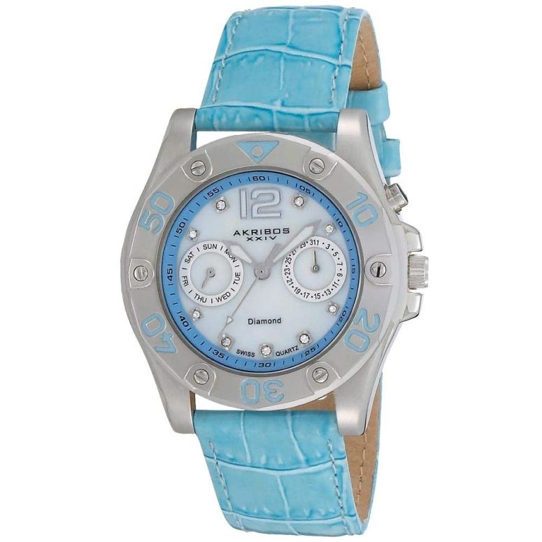 アクリボス Akribos XXIV 女性用 腕時計 レディース ウォッチ パール AKR483BU 送料無料 【並行輸入品】