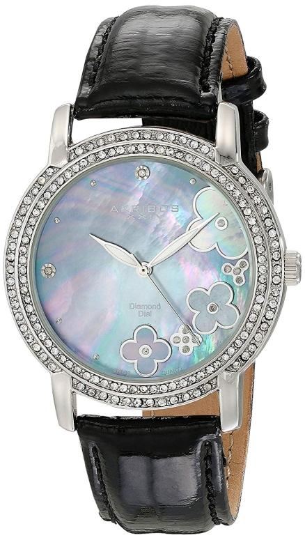 アクリボス Akribos XXIV 女性用 腕時計 レディース ウォッチ パール AK580BK 送料無料 【並行輸入品】