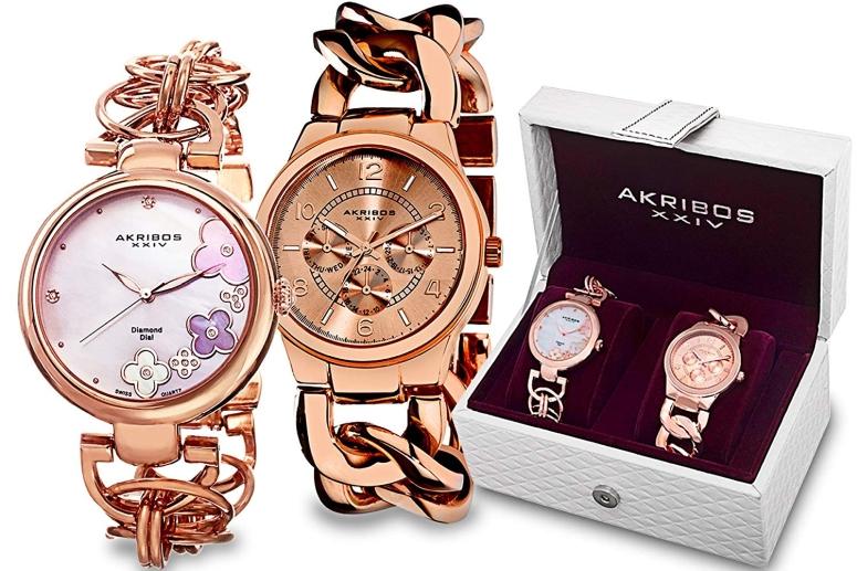 アクリボス Akribos XXIV 女性用 腕時計 レディース ウォッチ ローズゴールド AK677RG 送料無料 【並行輸入品】