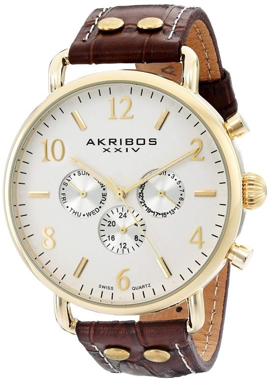 アクリボス Akribos XXIV 男性用 腕時計 メンズ ウォッチ シルバー AK752BR 送料無料 【並行輸入品】