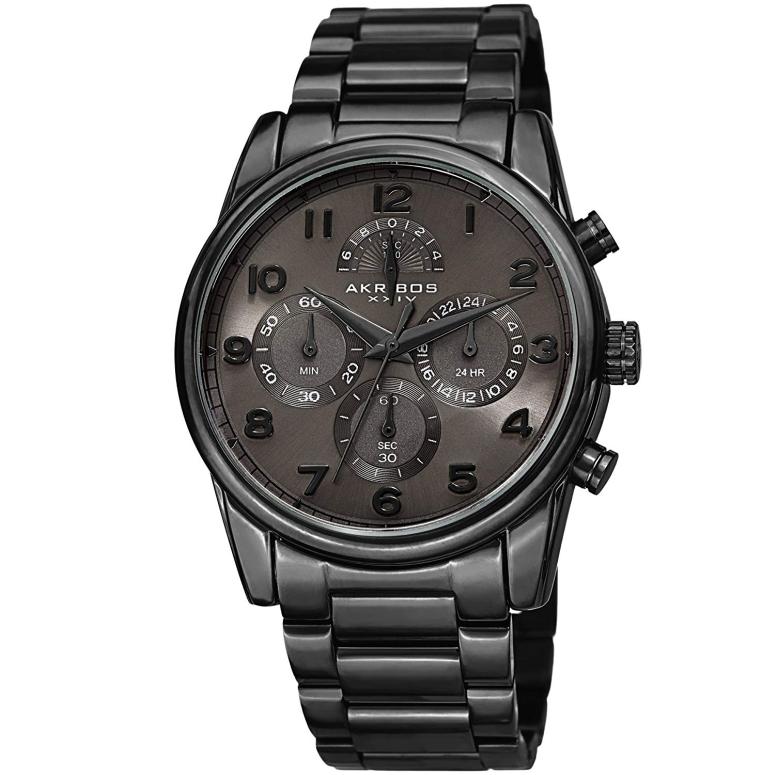 アクリボス Akribos XXIV 男性用 腕時計 メンズ ウォッチ ブラック AK1042BK 送料無料 【並行輸入品】