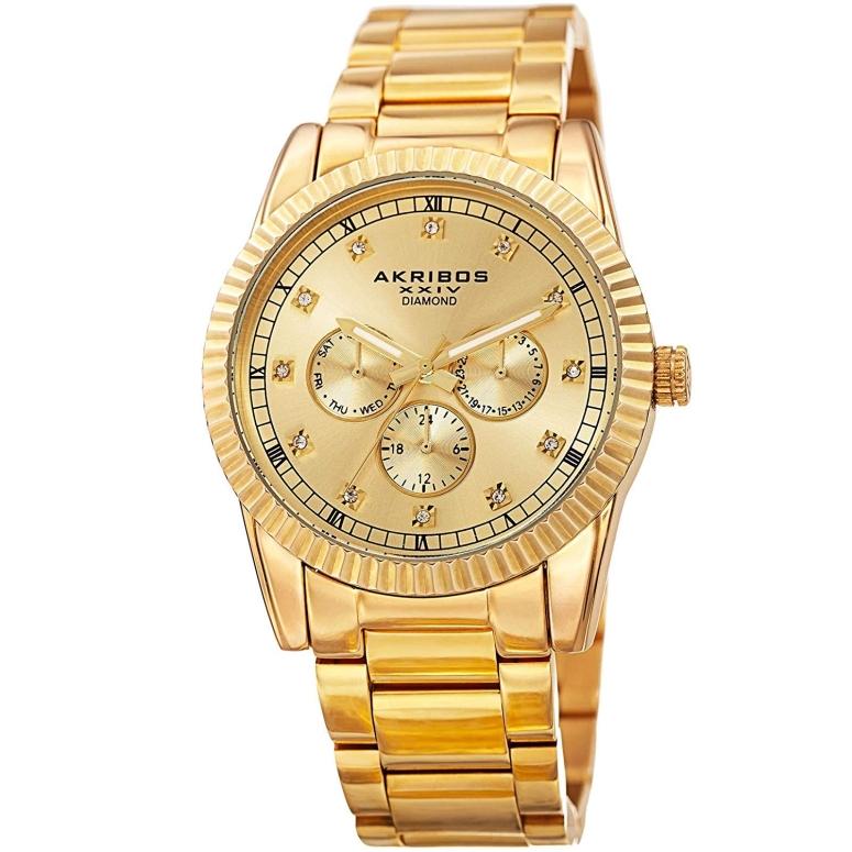 アクリボス Akribos XXIV 男性用 腕時計 メンズ ウォッチ ゴールド AK958YG 送料無料 【並行輸入品】