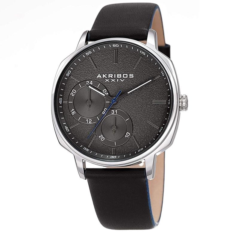 アクリボス Akribos XXIV 男性用 腕時計 メンズ ウォッチ グレー AK1022SSBK 送料無料 【並行輸入品】