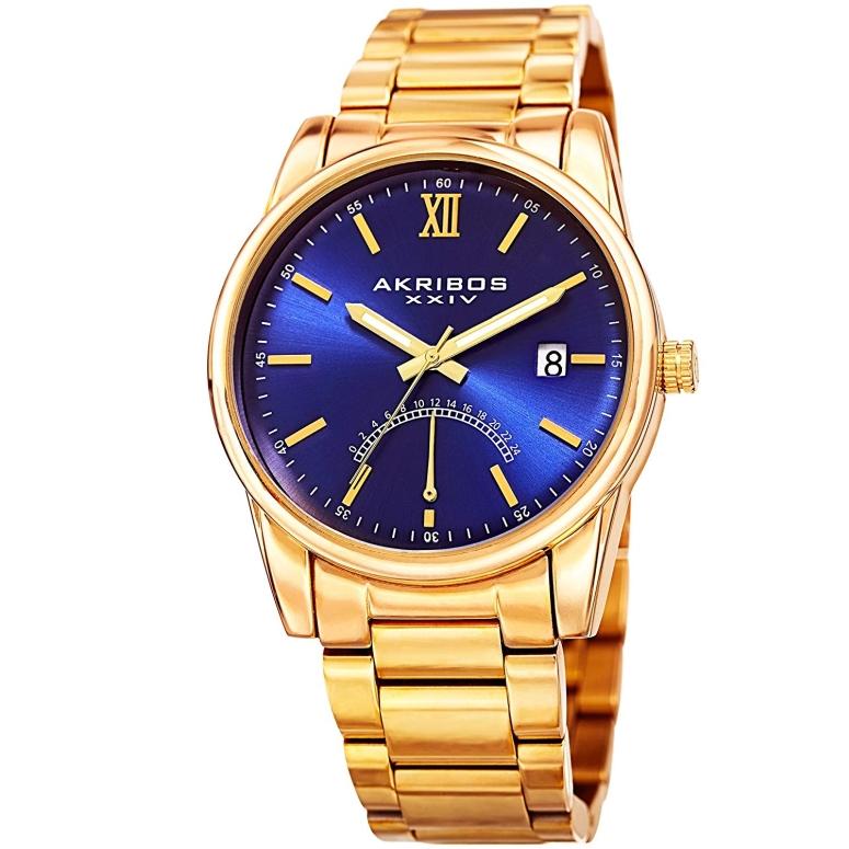 アクリボス Akribos XXIV 男性用 腕時計 メンズ ウォッチ ブルー AK962YGBU 送料無料 【並行輸入品】