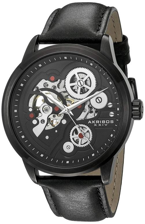 アクリボス Akribos XXIV 男性用 腕時計 メンズ ウォッチ ブラック AK855BK 送料無料 【並行輸入品】