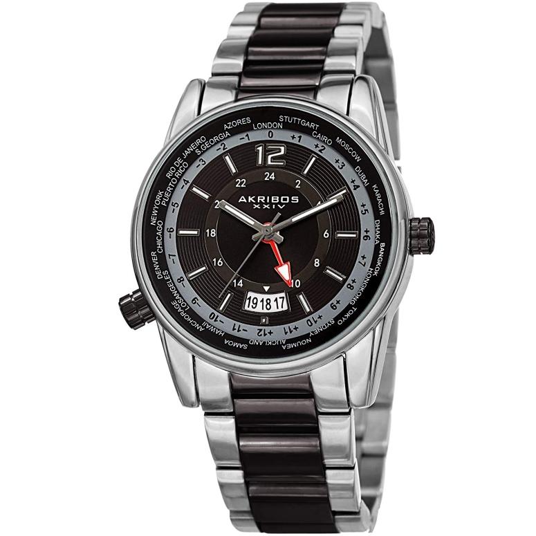 アクリボス Akribos XXIV 男性用 腕時計 メンズ ウォッチ ブラック AK1021TTB 送料無料 【並行輸入品】