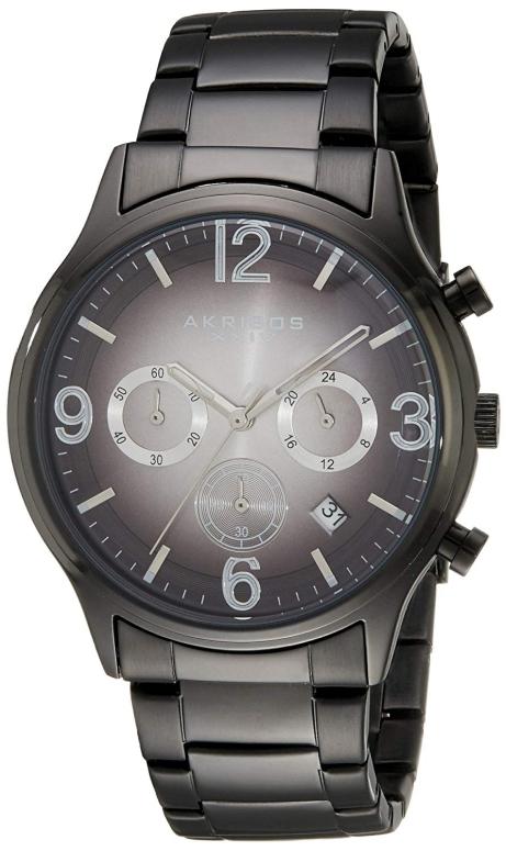 アクリボス Akribos XXIV 男性用 腕時計 メンズ ウォッチ クロノグラフ ブラック AK607BLK 送料無料 【並行輸入品】