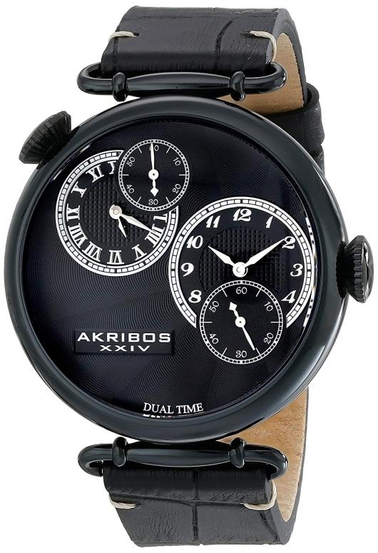 アクリボス Akribos XXIV 男性用 腕時計 メンズ ウォッチ ブラック AK796BK 送料無料 【並行輸入品】