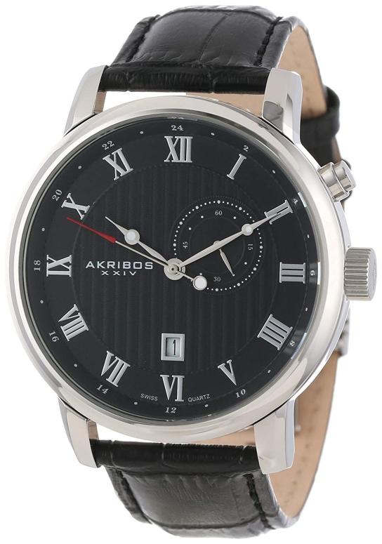 アクリボス Akribos XXIV 男性用 腕時計 メンズ ウォッチ ブラック AK595SS 送料無料 【並行輸入品】
