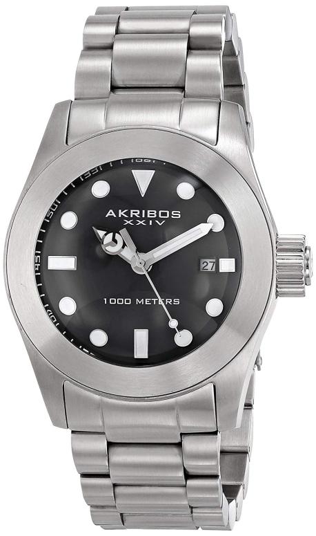 アクリボス Akribos XXIV 男性用 腕時計 メンズ ウォッチ ブラック AK730SSB 送料無料 【並行輸入品】