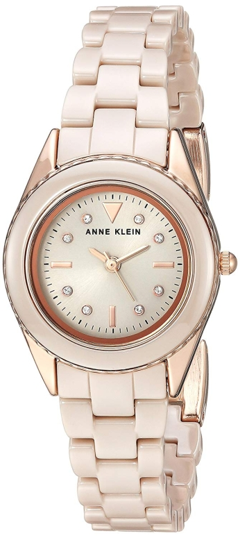 アンクライン Anne Klein 女性用 腕時計 レディース ウォッチ ベージュ AK/3164TNRG 女性らしいデザイン かわいい 送料無料 【並行輸入品】