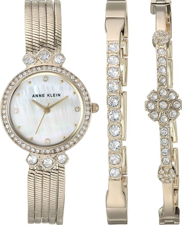 アンクライン Anne Klein 女性用 腕時計 レディース ウォッチ パール AK-3202GBST 女性らしいデザイン かわいい 送料無料 【並行輸入品】