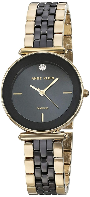 アンクライン Anne Klein 女性用 腕時計 レディース ウォッチ ブラック AK/3158BKGB 女性らしいデザイン かわいい 送料無料 【並行輸入品】