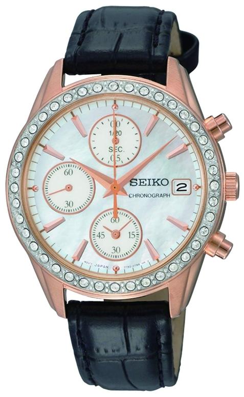セイコー SEIKO 女性用 腕時計 レディース ウォッチ クロノグラフ パール SNDY14 送料無料 【並行輸入品】
